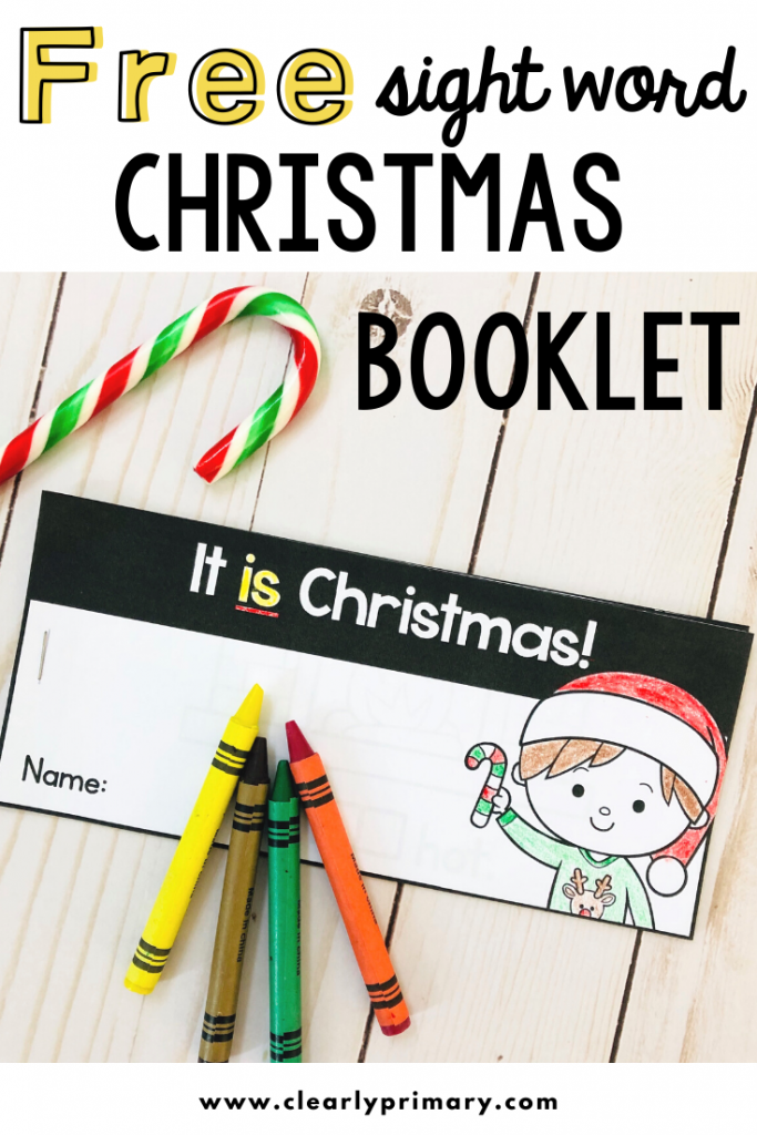 Free Christmas Sight Word Reader