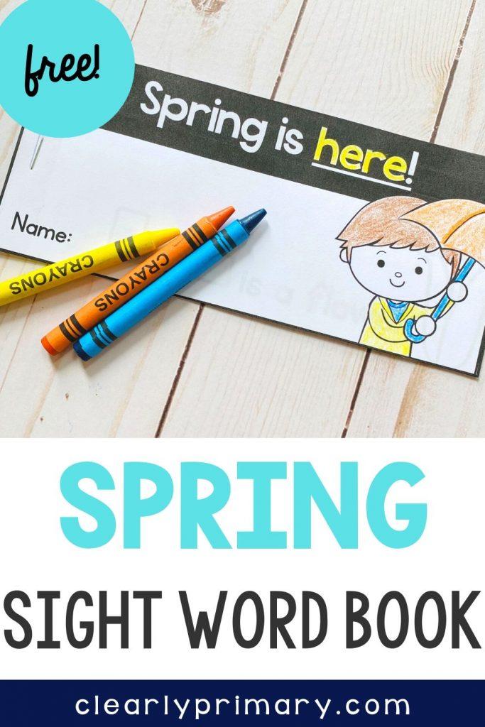 Free Spring Sight Word Reader