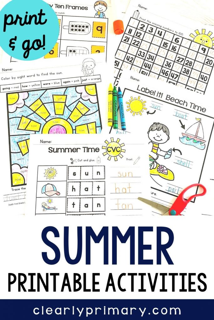 Summer Printable Activities