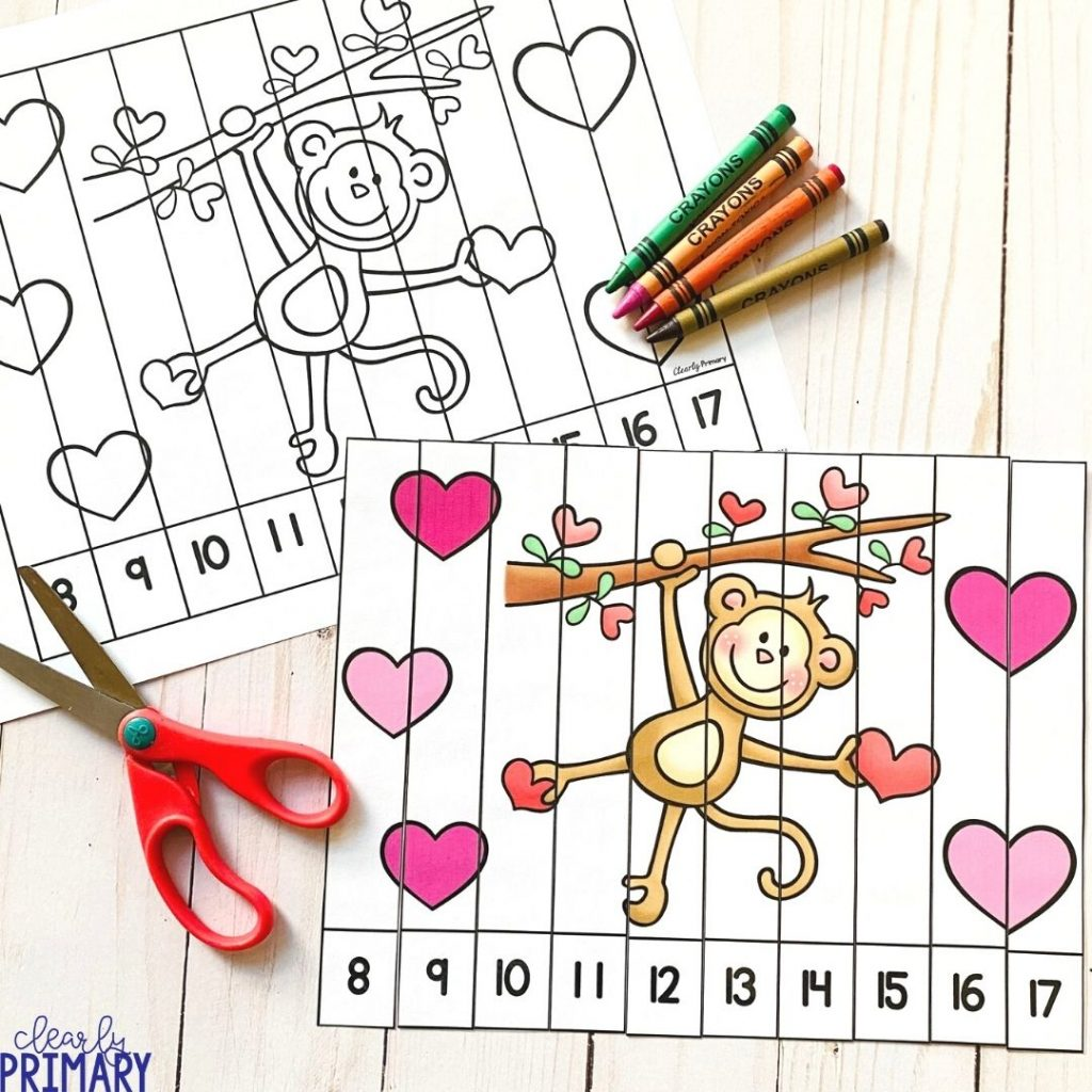 Valentines Day Math puzzles