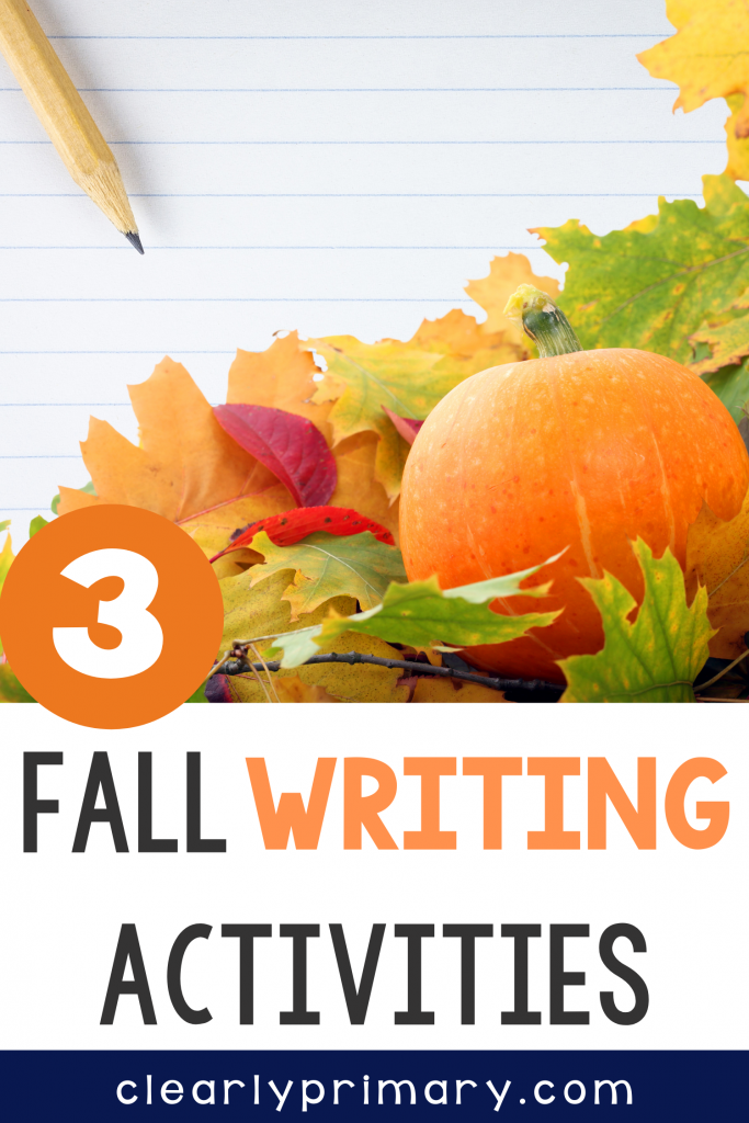 Fall Writing Activities for Kindergarten and First Grade