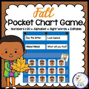 Fall Pocket Chart Game